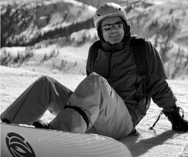 Helge mit Snowboard